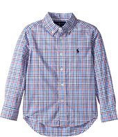 Polo Ralph Lauren Kids - Plaid Cotton Poplin Top (Little Kids/Big Kids)