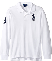 Polo Ralph Lauren Kids - Cotton Mesh Long Sleeve Polo Top (Big Kids)