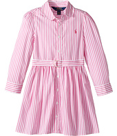 Polo Ralph Lauren Kids - Striped Cotton Shirtdress (Little Kids)