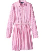 Polo Ralph Lauren Kids - Striped Cotton Shirtdress (Big Kids)
