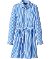 Polo Ralph Lauren Kids - Striped Cotton Shirtdress (Big Kids)