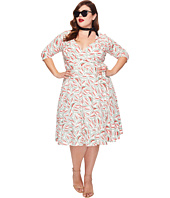 Unique Vintage - Plus Size Kelsie Wrap Dress
