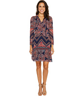 Laundry by Shelli Segal - Long Sleeve Printed Chiffon Dress