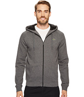Lacoste - Brushed Fleece Full Zip Hoodie Sweatshirt with 3D Print On Hood