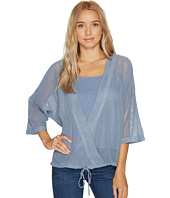HEATHER - Cyndi Square Mesh Wrap Top