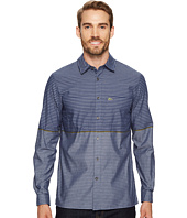 Lacoste - Long Sleeve Spread with Two-Pocket Horizontal Stripe Regular