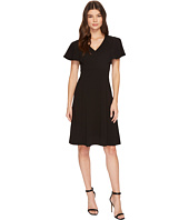 Calvin Klein - V-Neck Flutter Sleeve Fit & Flare Dress CD7C146L