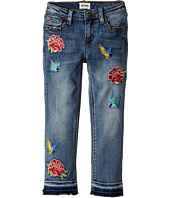 Hudson Kids - Freebird Girlfriend Ankle Jeans w/ Embroidery Patches and Studs in Hippie Heaven (Toddler/Little Kids)