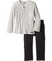 Hudson Kids - Two-Piece Striped Jersey Top Stretch Twill Pants (Infant)