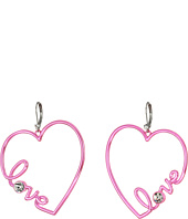 Betsey Johnson - Blue and Crystal Heart Earrings