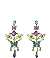 Betsey Johnson - Colorful Butterfly Chandelier Earrings