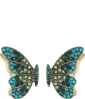 Betsey Johnson - Green Tonal Butterfly Studs Earrings