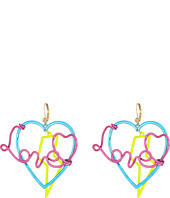 Betsey Johnson - Multicolor Love Drop Earrings