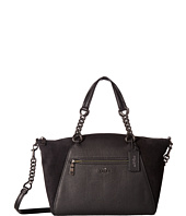COACH - Mixed Leather Chain Prairie Satchel