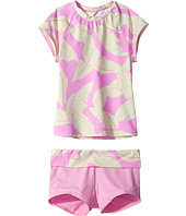 Hobie Kids - Fronds Forever Short Sleeve Rashguard and Swim Shorts (Big Kids)