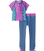 Hobie Kids - Mix It Up Cropped Rashguard and Swim Pants (Big Kids)