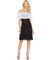 Tahari by ASL - Lace Combo Cold Shoulder Dress