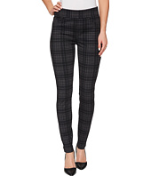 Liverpool - Sienna Pull-On Leggings in Heather Plaid Soft Ponte Knit in Grey