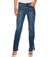 Liverpool - Tabitha Straight Jeans w/ Released Hem in Vintage Super Comfort Stretch Denim in Montauk Mid Blue