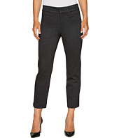 Liverpool - Vera Crop Flare Trousers with Welt Pockets in Mini Check Ponte Knit