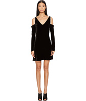 McQ - V-Neck Velvet Diamante Dress