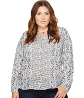 Lucky Brand - Plus Size Peasant Top