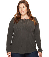 Lucky Brand - Plus Size Lace-Up Bib Thermal