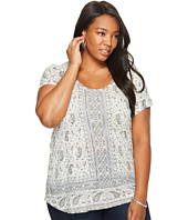 Lucky Brand - Plus Size Short Sleeve Erun Woodblock Tee