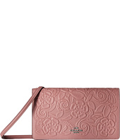 COACH - Tea Rose Tooling Fold-Over Crossbody Clutch