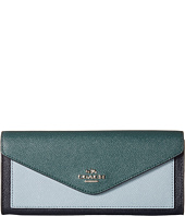 COACH - Soft Wallet In Colorblock Leather