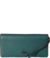 COACH - Polished Pebble Leather Slim Wallet