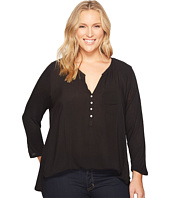 Lucky Brand - Plus Size Woven Mixed Top