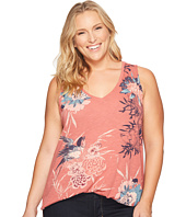 Lucky Brand - Plus Size Birds Flower Scroll Tank Top