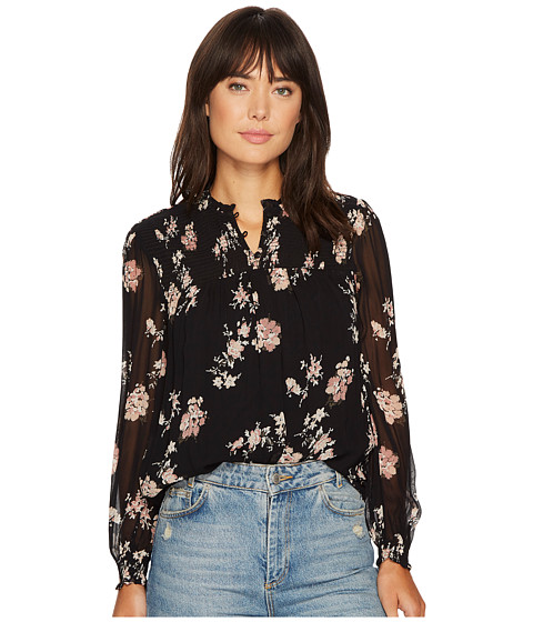 Lucky Brand Ditsy Mock Neck Top