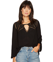 Lucky Brand - Lace Mix Peasant Top