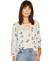 Lucky Brand - Floral Lace Mix Peasant Top