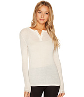 Hanro - Woolen Lace Long Sleeve Henley