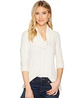 Lucky Brand - Cowl Neck Lurex Thermal Top