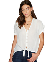 Lucky Brand - Woven Tie Front Top