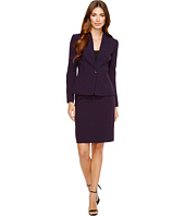 Tahari by ASL - Long Sleeve Collarless Jacket & Skirt Suit