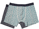 Boxer Shorts with All Over Print on Mélange Base