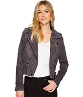 Blank NYC - Grey Suede Moto Jacket in Star Gazer