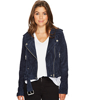 Blank NYC - Navy Blue Moto Jacket in Blue Valentine