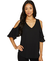 Karen Kane - Ruffled Cold Shoulder Top
