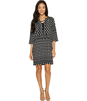 Karen Kane - Lace-Up 3/4 Sleeve Dress