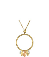 Lucky Brand - Tri-Tone Hoop Pendant Necklace