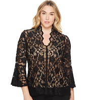 Karen Kane Plus - Plus Size Lace Flare Sleeve Top