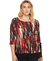 Karen Kane Plus - Plus Size Print Side Tie Top