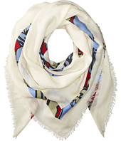 Tory Burch - Printed T-Logo Square Scarf