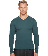 Calvin Klein - Long Sleeve Rib V-Neck T-Shirt